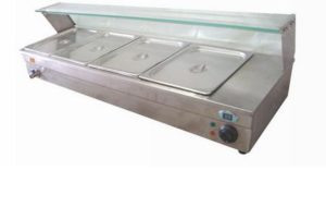 baine marie with glass counter electric - BM4