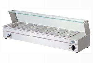 baine marie with glass counter electric - BM6