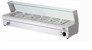 baine marie with glass counter electric - BM6 deep