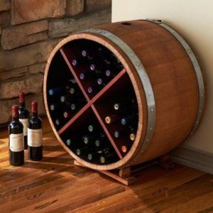 Barrel Wine Rack - Cross Motif
