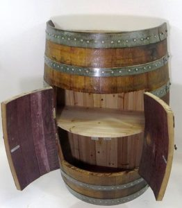 Half Wine Barrel Cabinet