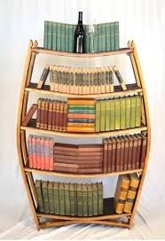 Wine Barrel Bookshelf